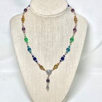 Sterling Silver Beaded Chakra Necklace