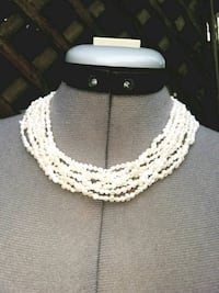 Stamped Silver Natural Pearl Necklace  Fairfax, 22032