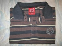 Tribal 100% Cotton 2 Button Striped Polo Style Short Sleeve Shirt - Size XL Winnipeg