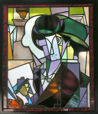 "STAINED GLASS 23""x27"" null"
