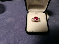 (New) simulated Ruby and white diamond Stafford, 22556