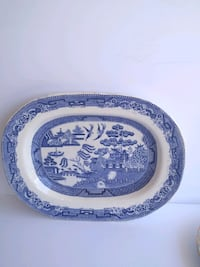 Vintage Blue and White Charger Plate
