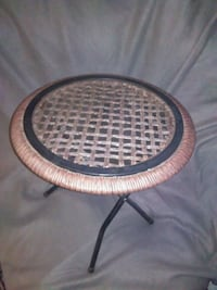 Glass and wicker portable table Georgetown, 47122