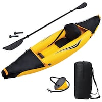 Blue Wave Sports Nomad 10 ft. Inflatable Kayak - Gold/Black