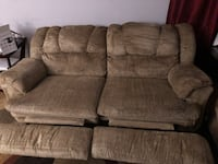Reclining couch and overside chair - $180 OBO Roanoke, 24012