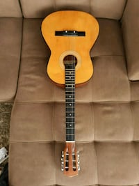 brown and black dreadnought acoustic guitar South Riding, 20152