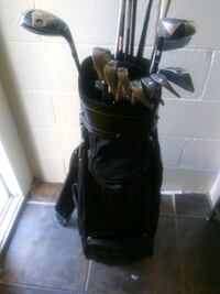 Used golf set with mercedes bag
