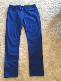 Ladies size 12 Blue Pants 98% cotton 2% spandex, used once  Milton, L9T 2R1