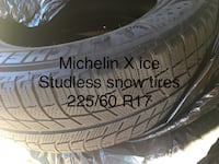 225/60 R 17 Michelin X-ICE tires. (Set) Nearly new! $350 or best offer 2318 mi