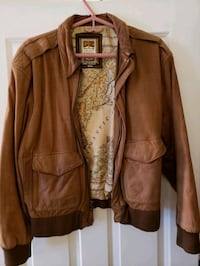 Let. Brown Leather jacket