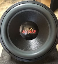 Round black and gray Kove Audio car speaker Parma Heights, 44130