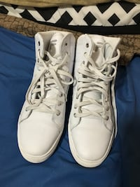 pair of white high-top sneakers Vancouver, 98684