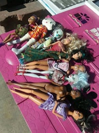 assorted color of plush toys, barbie doll Culver City