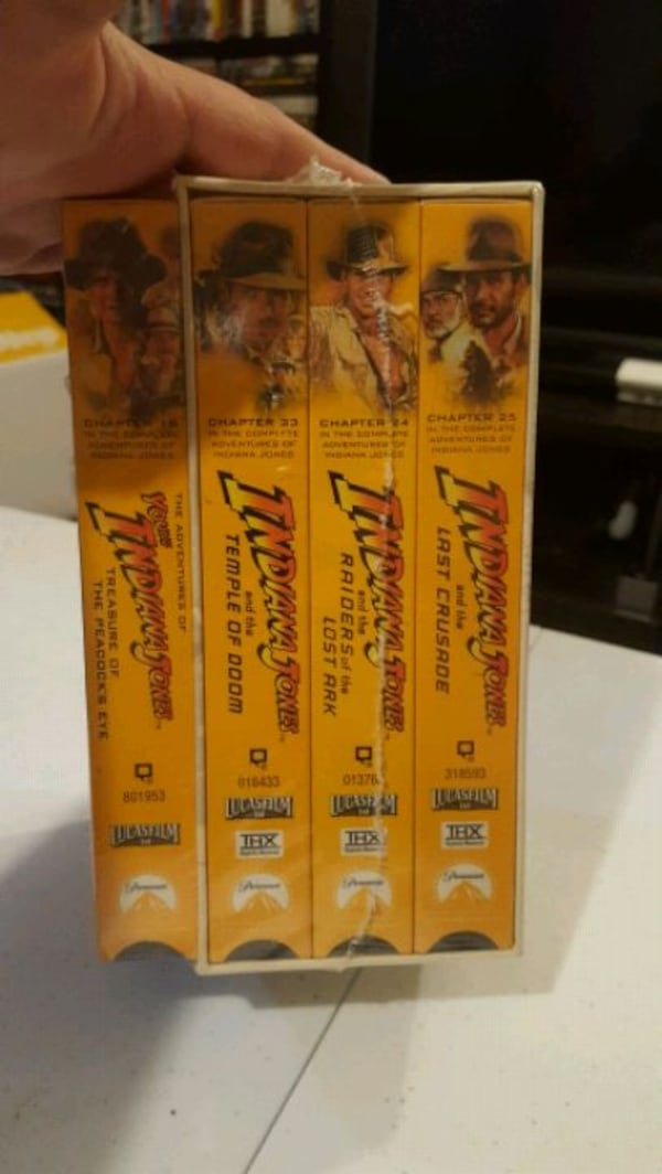 Vintage Indiana Jones VHS Collections  5