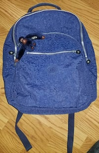 Seoul Solid Laptop Backpack Ink Blue Kipling