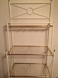 White/brass bakers rack Humber Arm South, A0L
