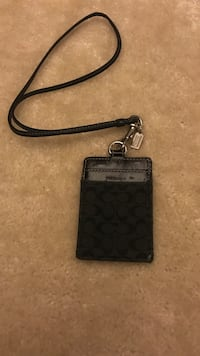 Black and gray Coach wristlet lanyard  Dumfries, 22026