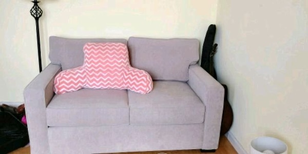 Gray And Pink Fabric Sofa Chair From Macy S