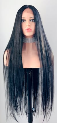 """36"""" Straight Black Lace Front Wig"""