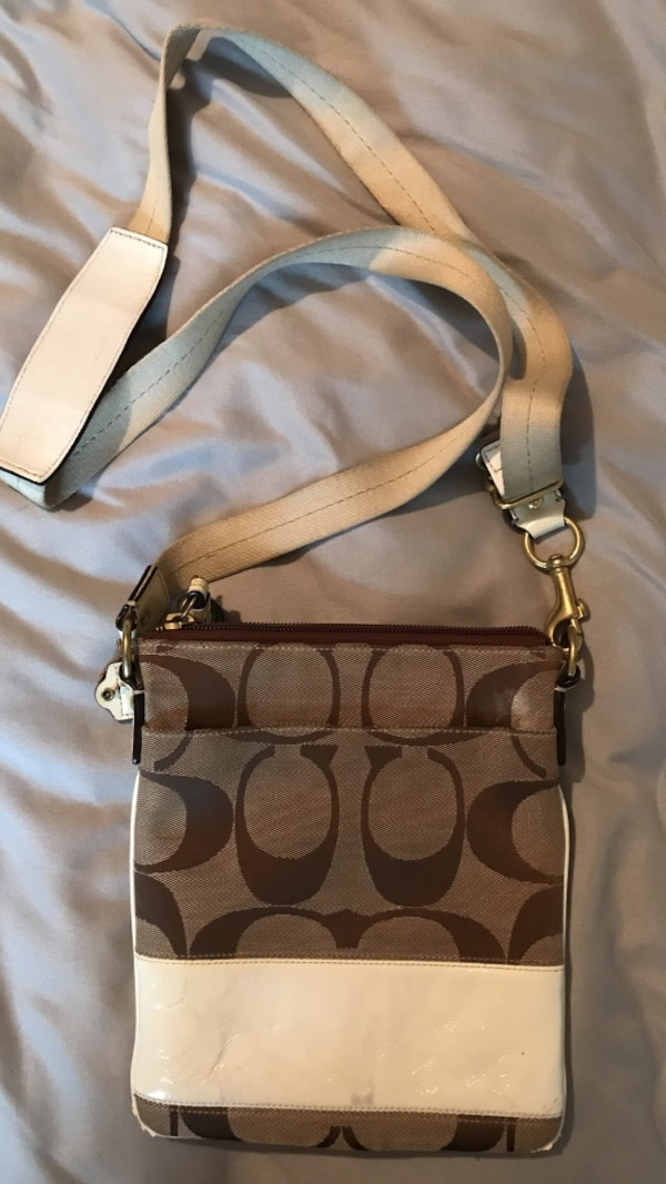 8b67c9d8c2 Used Women s brown and white Coach leather sling bag for sale in Toronto -  letgo