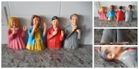 1968 Childcraft Hand Puppets, Some wear in spots, the Man in grey jacket does have a missing chunk out of his ear (see photos) all for $10 PU Morinville Morinville
