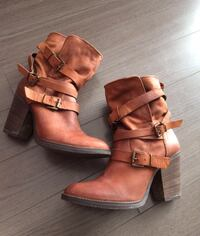 Shoes brown leather boots size 10 Gatineau, J9J