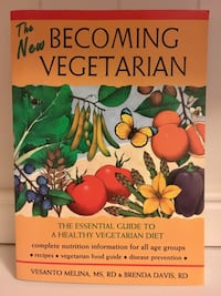 """The New Becoming Vegetarian: The Essential Guide To A Healthy Vegetarian Diet"" by Versanto Melina, MS, RD & Brenda Davis, RD Used Paperback Book Pasadena, 21122"