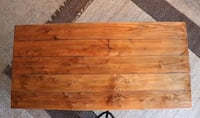 Table - Solid Wood, Iron, Industrial, Rustic San Marcos, 92078