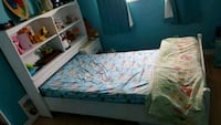 kids twin bed frame and book case ,  Kitchener, N2P 1N1
