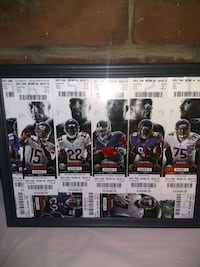 2014 Chicago Bear's Framed 8 Unused Ticket lot