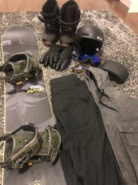 Snowboard and accessories , AWESOME DEAL everything is like new Coquitlam, V3J 3H6