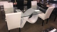 White Glass Top Dining Table With Chairs  Phoenix, 85018