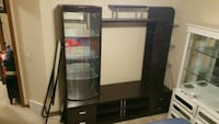 Entertainment unit with display cabinet