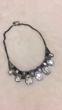 Silver and black chunky necklace  Toronto, M1P 5C4