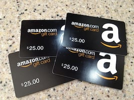 4 $25 Amazon Gift Cards Email Delivery ($15 cashapp or Apple Pay only)