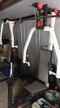 Workout equipment. with a few random weights