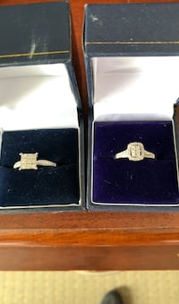 Real diamonds set in white gold, any decent offer is welcomed  Oakville, L6L 6P8