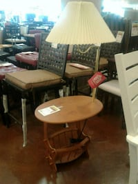 End Table W/ Attached Lamp & Storage  Phoenix, 85018