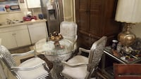 Beautiful silver dining room set with white for cu