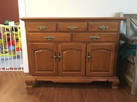 Brown wooden cabinet with drawer Nanaimo, V9S 2T5
