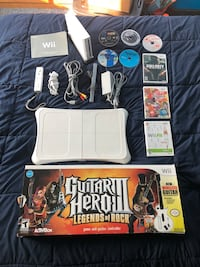 Nintendo Wii System Bundle w/ 8 Games- Guitar Hero, Wii Fit, Call of Duty Black Ops, Lego Star Wars Oshkosh, 54901