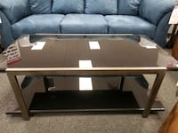 Black Tempered Glass Table
