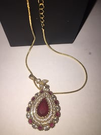 Turkish-style pendant with ruby and topaz Silver Spring, 20904