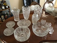 clear cut glass punch bowl set Mississauga, L4W 3V8