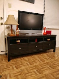 Nice solid wood black TV stand with 3 drawers and  Annandale, 22003