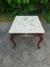 Vintage table with picture of map Corpus Christi, 78413