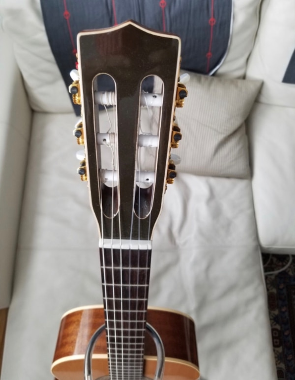 black and brown electric guitar
