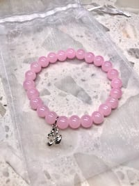 NEW Glass Bead Bracelet Pink