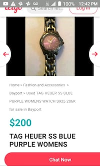 Tag Huerer woman's watch with new battery. Authenticated by gemologist