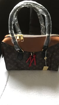 black and brown Louis Vuitton leather tote bag Lincoln Park, 07035